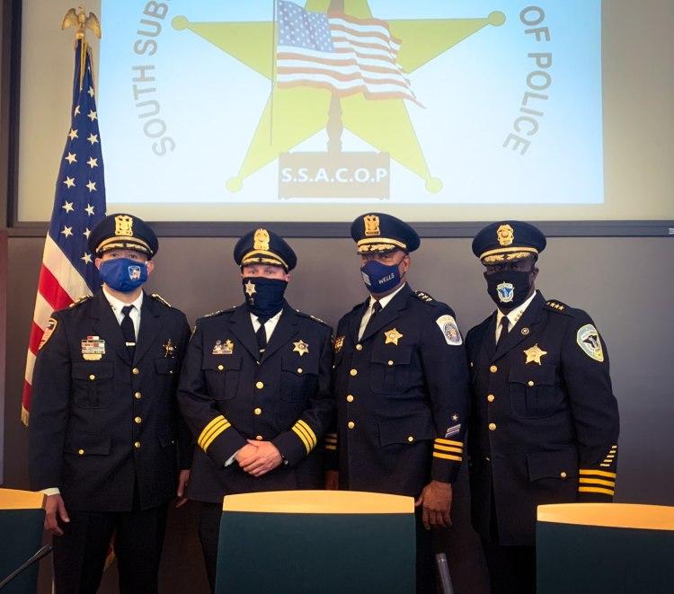 Chief Christopher Mannino, Chief Michael Jones, Chief Roy Wells, and Chief Mitchell Davis